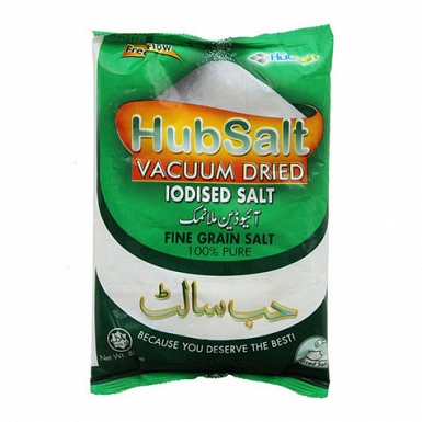 Hub Salt Iodized Fine Grain 800Grams
