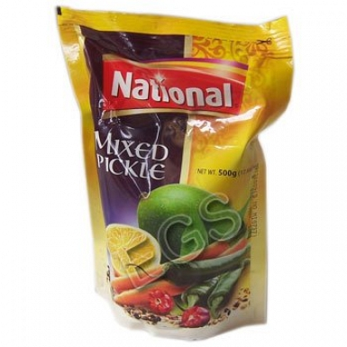 National Mixed Pickle Pouch 500Grams