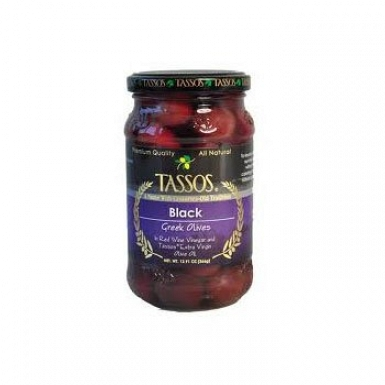 Tassos Black Greek Olives 450 Grams