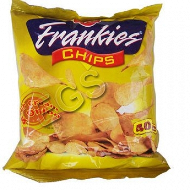 Frankies Sour & Onion Chips 120Grams
