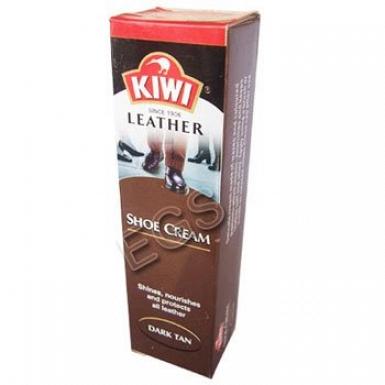 Kiwi Leather Shoe Cream Dark Tan 50ml