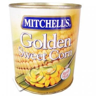 Mitchells Golden Sweet Corn 850 Grams